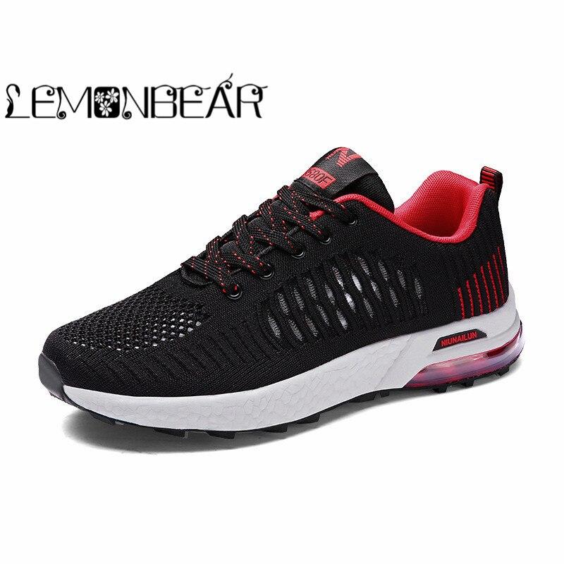 Marque qualité chaussures pour hommes volant tissé air coussin plat baskets grande taille respirant tricoté lumière dentelle luxe chaussures pour hommes