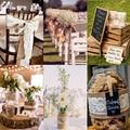 2 M Cinta de Arpillera de yute Yute Natura con Adornos de Encaje Cinta Rollo de La Vendimia Rústica Decoración de La Boda Mariage Wedding Cake Topper