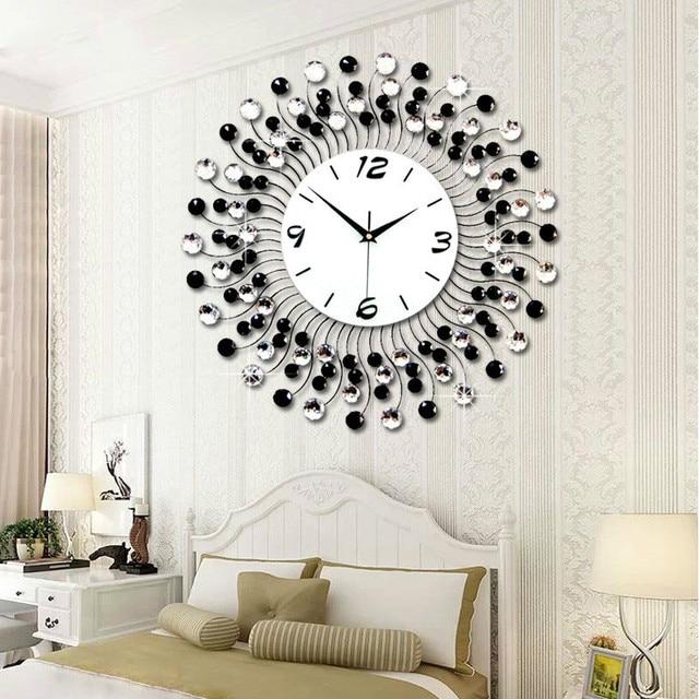 Beautiful Big Size Wall Clock Part - 7: 2016 New Fashion 3D Big Size Wall Clock With Diamond Wall Clocks For Home  Decoration Lurury
