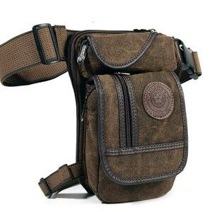 Холщовая/нейлоновая сумка-трость, поясная сумка в стиле милитари для путешествий, мотоциклистов, мужчин