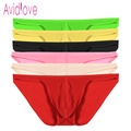 Avidlove Brand Men Underwesar Sexy Ice Silk Triangle Underpants Men Perspective Erotic Sexy Underwear 7 Peces/lot  M-4XL U2