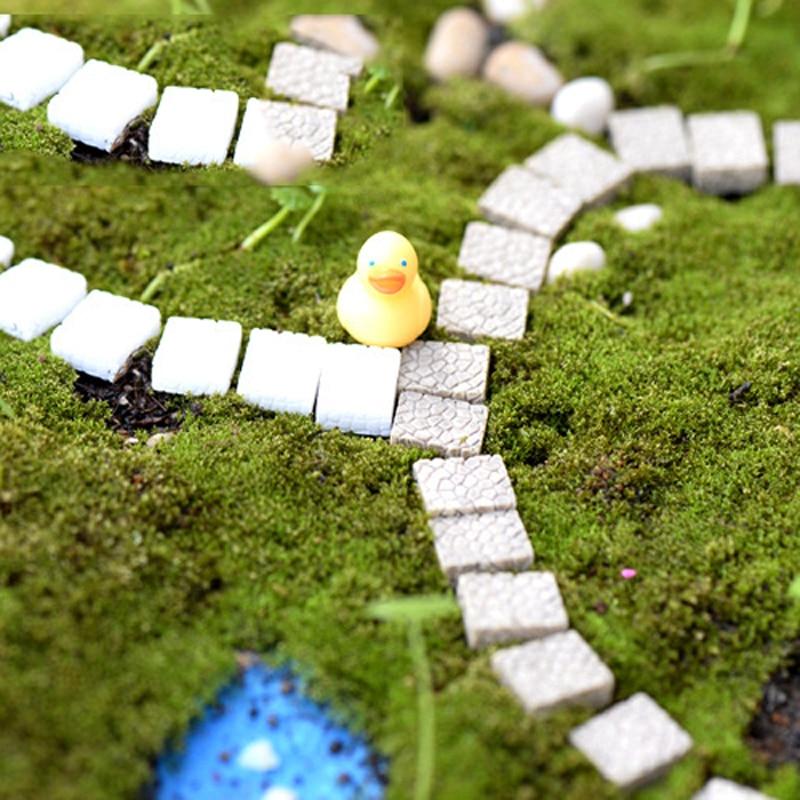 20pcs Mini Stone Step Stairs Sculpture Small Fairy Garden Terrarium Gnomes  Bonsai Moss Landscape Ornament Resin Craft Home Decor
