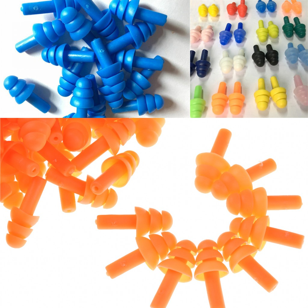 2019 New 20PCS Waterproof Swimming Ear Plug Silicone Swim Earplugs Soft Anti-Noise Diving Ear Plug For Adult Swimmers Children