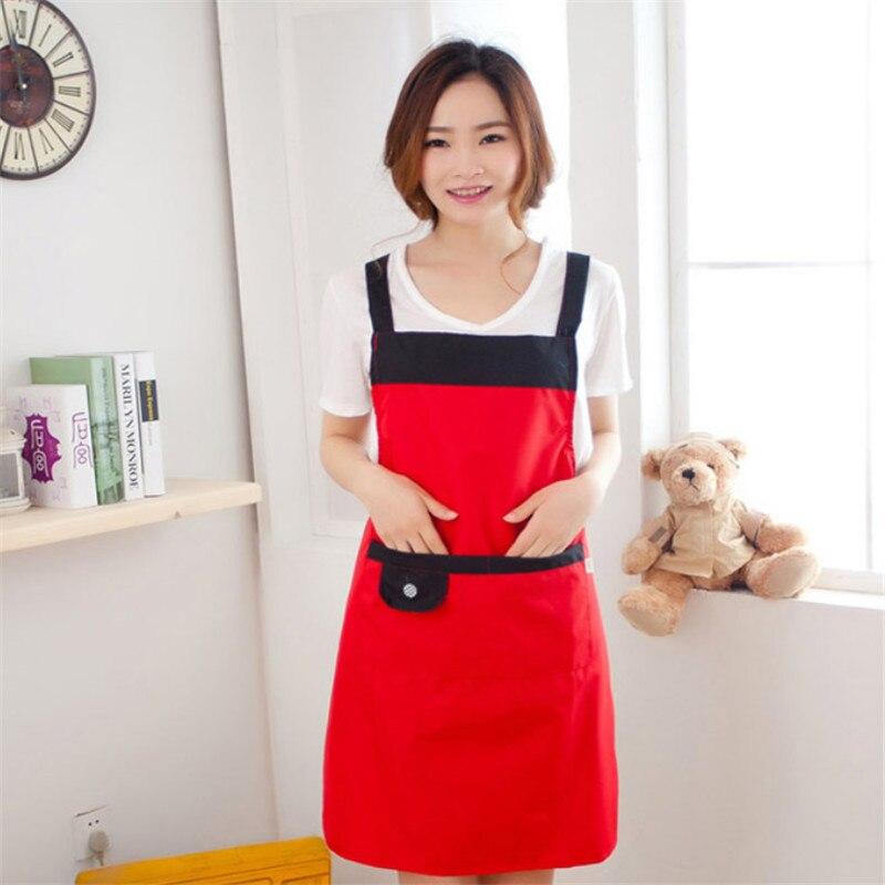 1 Pc Waterdicht Olie Proof Mode Eenvoudige Thicken Adult Lady Keuken Koken Schort Bakken Schorten Voor Vrouwen