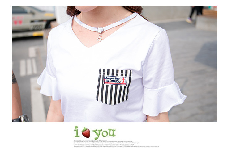 HTB1uUNrgrSYBuNjSspfq6AZCpXaz - Fashion Summer Family Matching Outfits White V Neck T - Shirt With Stripes Shorts/Skirts Mother Dad Son Daughter Clothes Sets