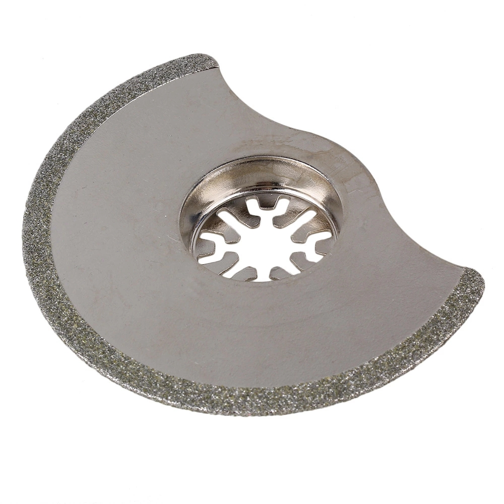 88mm Sliver Diamond Universal Oscillating Multitool Semicircle Saw Blades With Countersunk Head