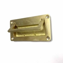 Antique Tatami brass square handle embedded simple concealed pure copper handle furniture cabinet handle [haotian vegetarian] antique copper flower shaped handle doorknob antique furniture copper fittings htb 087