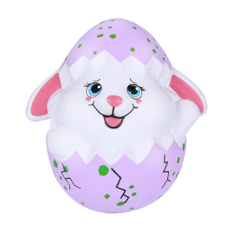 Squishy Kawaii Squishies Happy Easter Bunny Egg Scented Slow Rising Squeeze Collect Easter Gift Adorable Toy Anti-stress D4