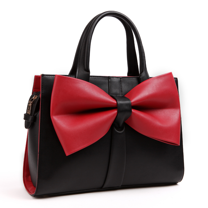 купить Women Top-Handle Bags Vintage Big Totes Bow Messenger Bags Top Quality female Hand Bags TSX118 по цене 4537.47 рублей
