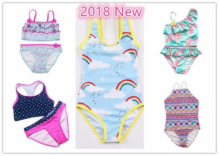 3506a49a7 Girls Swimwear Two Pieces Swimsuit for Girls Kids bikini biquini infantil  baby girl bathing suit Children swim suit