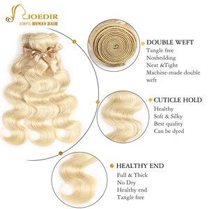 Image 3 - 613 Honey Blonde bundles with closure Brazilian Body Wave Human Hair Weave Bundles With Closure Lace Closure With Bundles Joedir