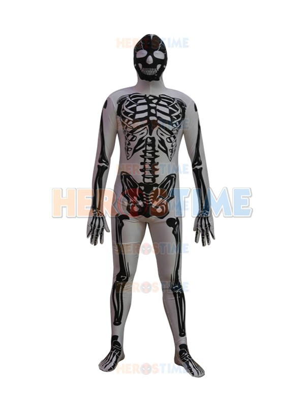 New Skeleton Superhero Costume vendita calda Spandex mens Skeleton - Costumi di carnevale
