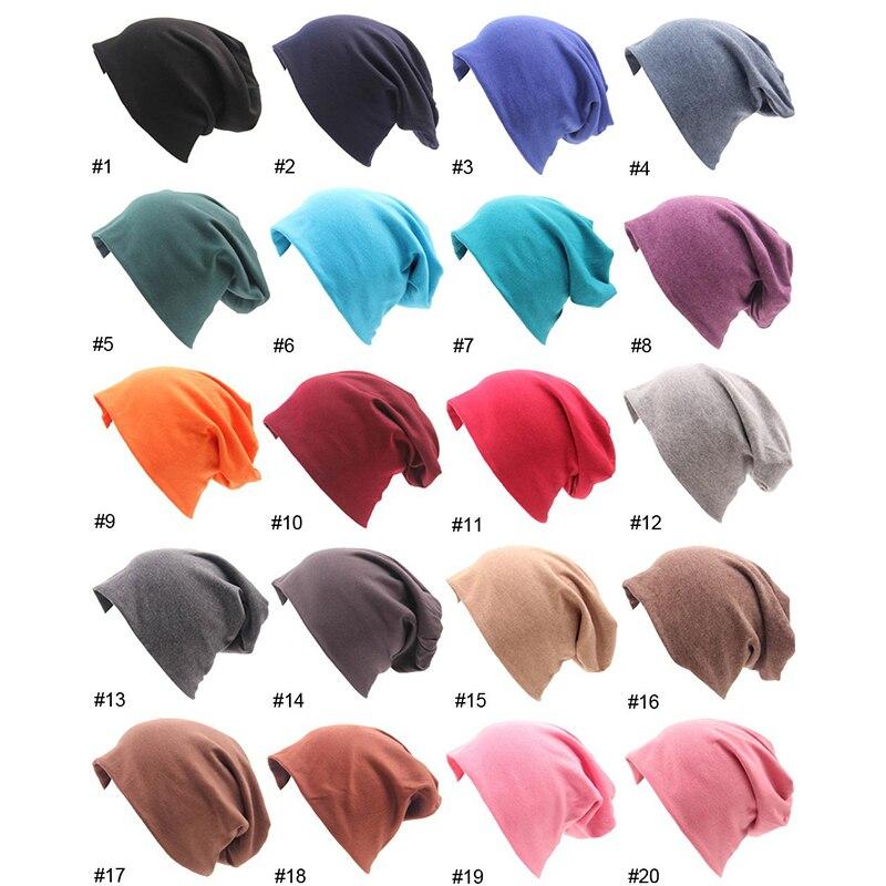 2018 Women Knitted   Beanies   Caps Street Hip Hop Casual Hats For Men Women Adult Solid Color Cotton Men Women   Skullies     Beanies