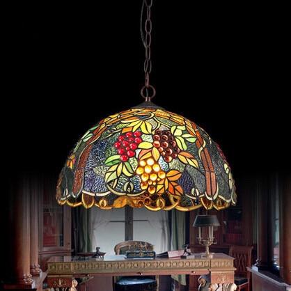 cm multicolor tiffany de cristal led luces colgantes led lmpara colgante lamparas colgantes para comedor