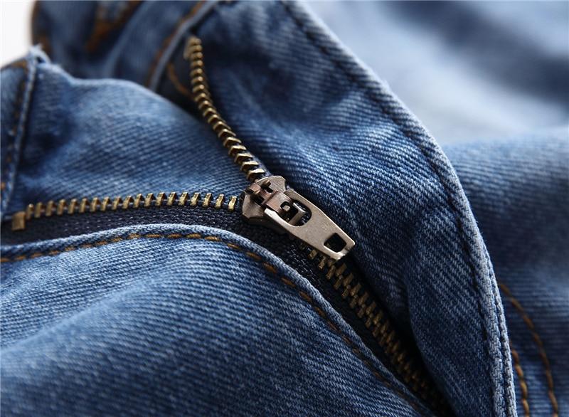 Men Hip Hop Ripped Slim Jeans