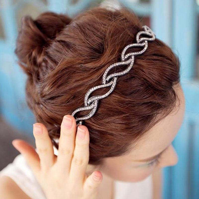 Twist Rhinestone Crystals Teeth Hair Hoop Hairbands For Women Girls   Headwear   Hair Bands Accessories accesorios para el pelo