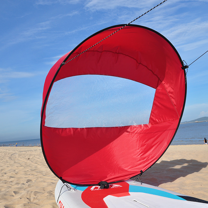 "42"" Kayak Boat Wind Sail Sup Paddle Board Sail Canoe Kayak Wind Paddle Portable Folding Sail 108x108cm Kayak Accessories"