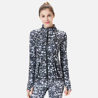 Running Coats Jackets Fashion Sport Quick Dry Waterproof Hiking sport Jacket Femal Printing Elastic Breathable Women Sportswear