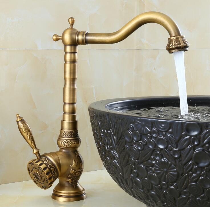 Здесь продается  New arrival high quality antique cold and hot single lever High bathroom sink faucet basin faucet with 45 cm plumbing hose  Строительство и Недвижимость
