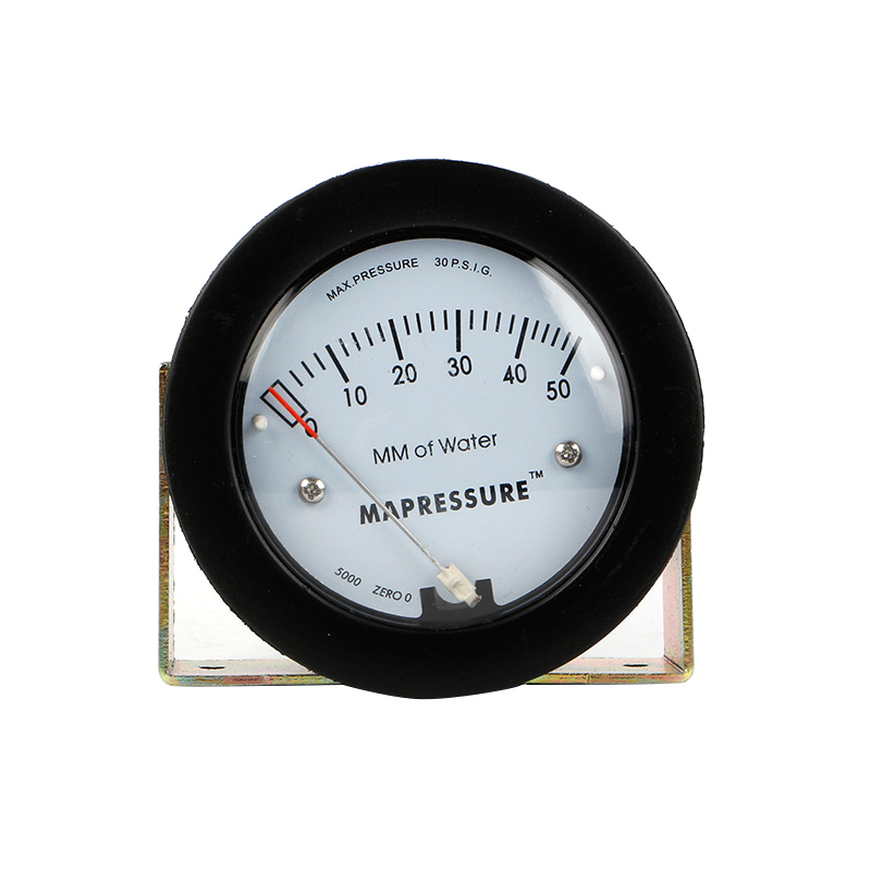 -68 ~ 103KPa 0-50mm TE5000 Air Differential Pressure Gauge Mini Size Easy to Mounting Pointer Rated Pressure