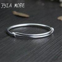 Fyla Mode Chinese Style 100 999 Sterling Silver Bangle Bracelet Jewelry For Women Wen Wedding Adjustble
