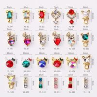 100Pcs/lot New Colorful Glitter 3D Metal Alloy Super Shiny Nail Art Decoration Charms Studs christmas Nails 3d Jewelry YL90 113