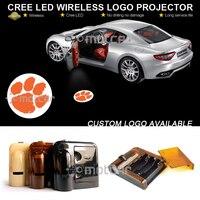 Araba Kapı Adım Nezaket Hoşgeldiniz Işık Projektör Lazer Cle-mson Tigers GOBO Logosu Işık Hayalet Gölge Puddle Amblem LED spot