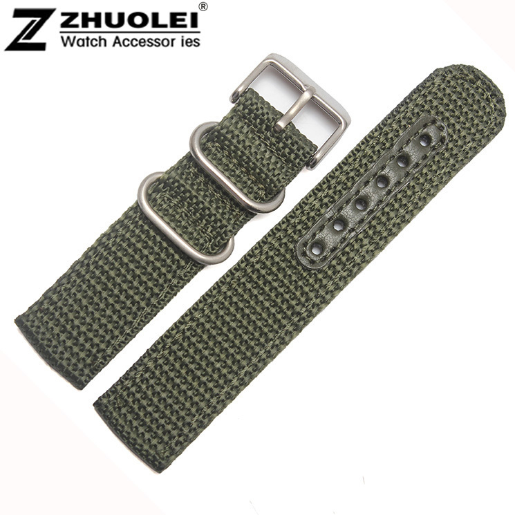 ᑐ18mm 20mm 22mm nuevo deporte verde del ejército policía reloj ...