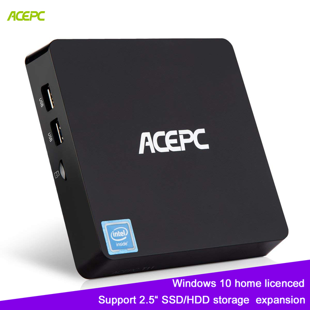 "ACEPC T11 Mini PC Windows 10 CPU Intel Atom Z8350 Licenced 4GB RAM 64GB EMMC Support 2.5"" SSD/HDMI 4K mini computer"