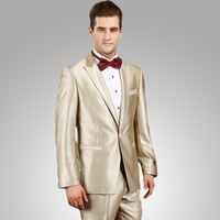 Wedding Suits For Men 2018 Champagne Tuxedo Mens Prom Suits Latest Coat Pant Designs Groom Suit Brand Clothing CD30