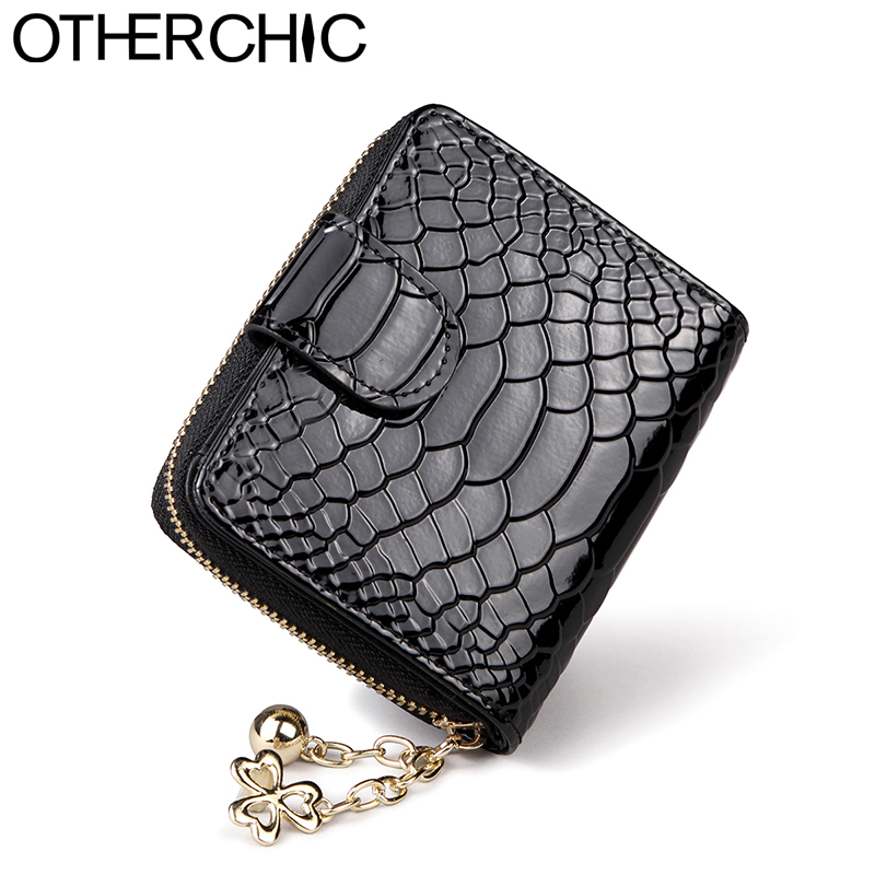 OTHERCHIC Patent Leather Women Short Wallets Ladies Small Wallet Coin Purse Female Credit Card Wallet Purses Money Bag 5N12-04 otherchic women short wallets small simple wallet zipper coin pocket purse woman female roomy wallet purses money bag 7n01 14
