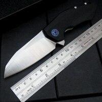 High Quality ZT 0456 Folding Knife G10 Handle D2 Blade Bearing Flipper Hunting Knife Pocket Tool