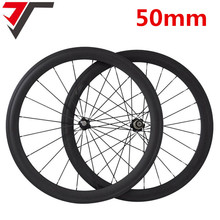 cb9f8c3b883 TRIPS 700C carbon wheels China 50mm clincher wheel carbon road bike wheels  R36 straight pull hubs