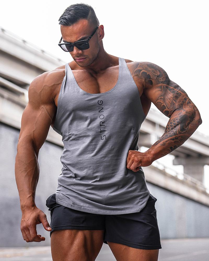 2019 Gyms Workout Sleeveless Shirt   Tank     Tops   Men Bodybuilding Clothing Fitness Mens Sportwear Vests Muscle Animal Men   Tank     top