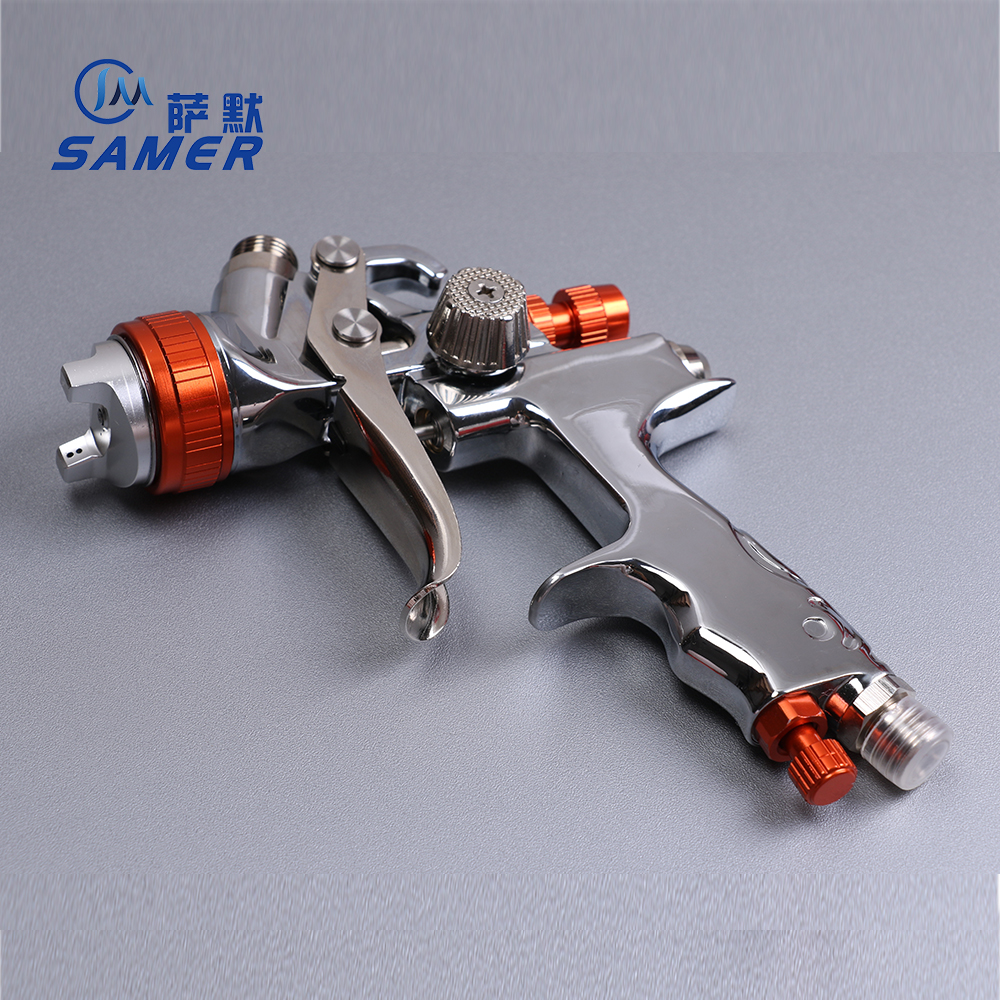 SAMER 808G HVLP Spray Gun Gravity Feed 1.3mm 600ml Advanced Atomization Technology High transfer efficiency advanced engine technology