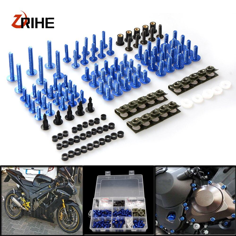 Мотоцикл обтекатель болт гайки шайбы, крепеж для фиксации Yamaha YZF R1 R6 R3 2004 2005 2006 2007 2008 Complete комплект