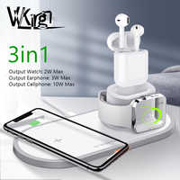 VVKing Wireless Charger For iPhone X XS MAX XR 8 Fast Wireless Full load 3 in 1 Charging Pad for Airpods 2019 Apple Watch 4 3 2