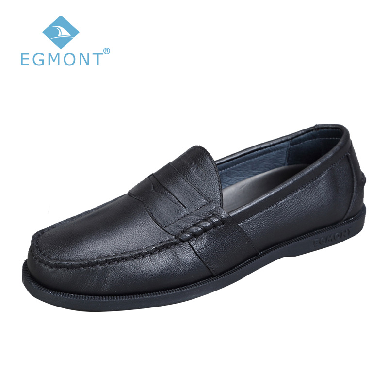 Egmont Black Spring Summer Moccasin Shoes Solid Slip-on Mens Casual Shoes Loafers Cow Leather Handmade Comfortable Breathable цены онлайн