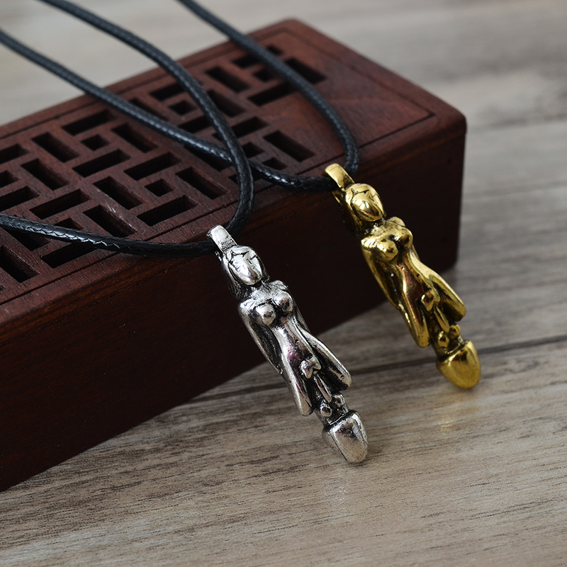 New Men and women pose couples penis wedding gift jewelry gift pendant necklace
