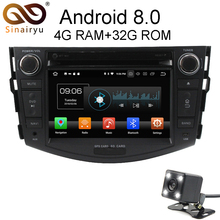 Sinairyu Android 8.0 8 Core 4G RAM Car DVD GPS For Toyota RAV4 RAV 4 2006 2007 2008 2009-2012 WIFI Autoradio Multimedia Stereo