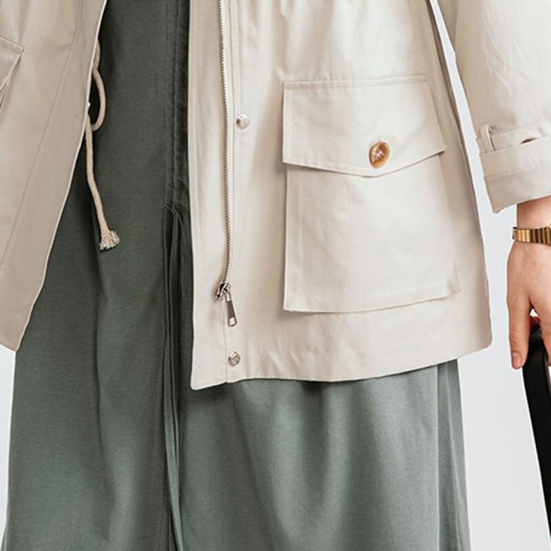 xitao Apricot Décontracté Poche Collar Corée Nouveau Été down Manteau Longue Solide Pleine Manches Mode 2019 Turn Veste Dll2611 Printemps Couleur HwAqFOHZr
