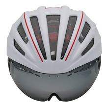 Goggles Bicycle Helmet Double Layers Road Mountain MTB Cycling Helmet With Lens Ultralight Casco Ciclismo Bike Helmet 55-61CM