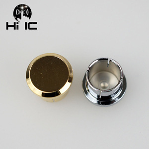 Image 4 - 2pcs Protective Cover Gilded Rhodium Plated Covers Dust Cap Shielded Anti oxidation for RCA  Socket Connector
