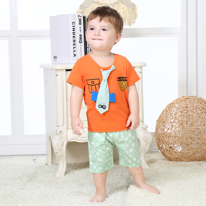 Baby Boy Clothing Set Summer Gentleman Clothes Top T-Shirt Trousers Pants Everything For Children Clothing And Accessories 2017 top fashion children s clothing summer male child summer set boy clothes t shirt pants set for 4 16 years old