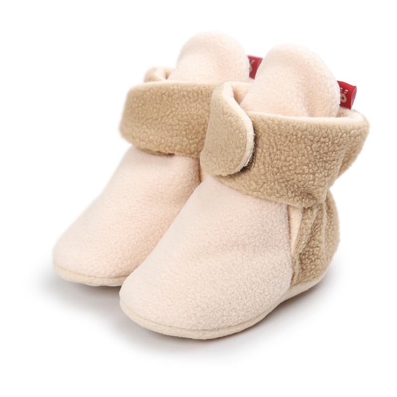 0-24 Mt Baby Junge Mädchen Schuhe Stiefel Winter Warme Neugeborenen Kleinkind Schuhe Säuglings Prewalkers Baumwolle Padded Krippe Schuhe Für Baby 12 Farben
