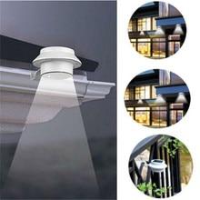 High Quality White 3 LED Solar Powered Spot Light Floodlight Automatic Sensitive Sensor Path Wall Lamp Outdoor Street Light