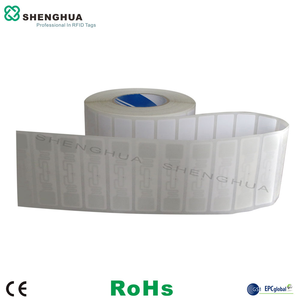 2000pcs/roll Security Management Rfid Printer Printable RFID Paper Label UHF Anti Theft Wet Inlay Tag Sticker For Access Control
