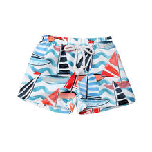 Гавайская Юбка одежда для малышей для маленьких мальчиков пляжные шорты Плавки с принтом эластичный пояс Бандажное платье детские костюмы для плавания; Короткие штаны Летние трусы Лидер продаж