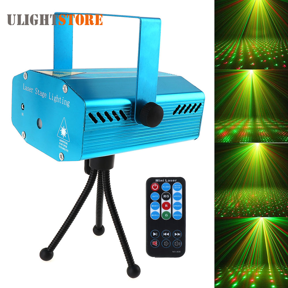 Green Red LED Stage Effect Light Sound Activation Star Starry Laser Projector for Festival Party Disco DJ KTV Club Bar Lamp 4pcs stage light led disco light 10w dj laser projector mercury lamps festival bar club party disco strobe lights party lights