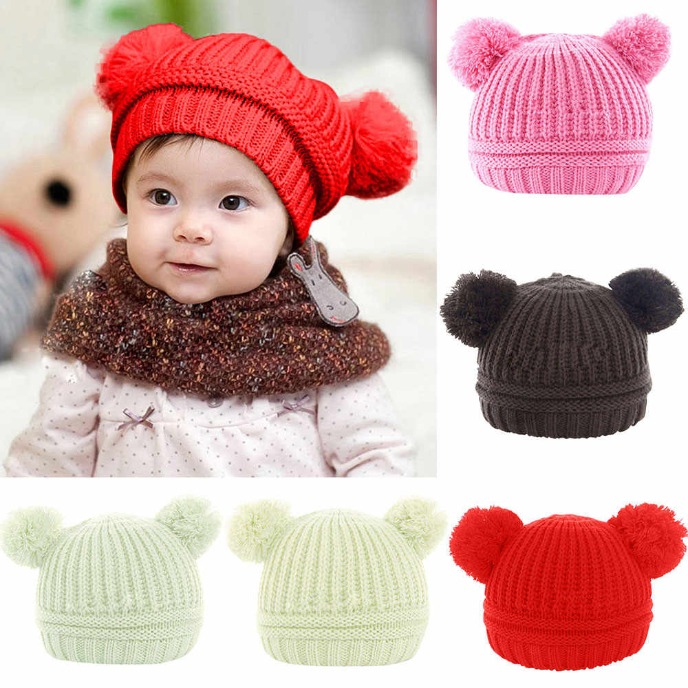 87664dd7 MUQGEW Hot Sale Toddler Baby Boys Girls Winter Keep Warm Crochet Knit Hat  Infant Hairball Cap